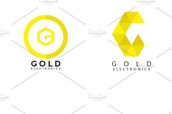 g letter logo design 2 in 1 logo templates creative market