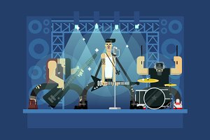 Rock band illustration