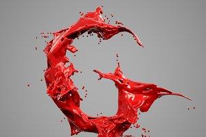 Splash Liquid Alphabet: G