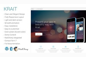 Krait- Landing Page Wordpress Theme