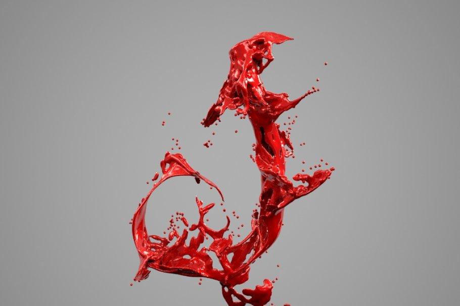 Splash Liquid Alphabet: J ~ 3D Models ~ Creative Market