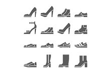 footwear black icons