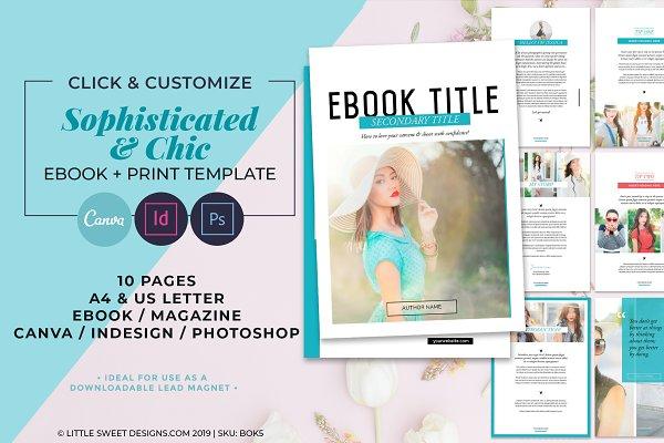eBook Template - Canva, INDD & PSD