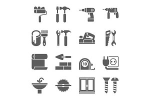 Home Repair and Tools Icons.