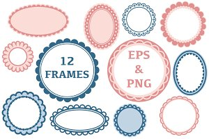 Pink and blue frames