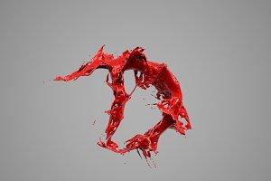 Splash Liquid Alphabet: D