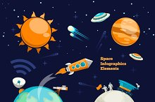 Space infographics elements