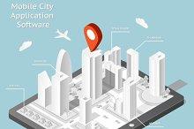Paper city navigation mobile app