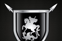 Saint George and The Dragon shield
