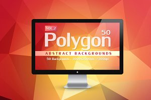 50 Polygon Backgrounds Vol.2