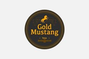 Gold Mustang- Horse Club Logo