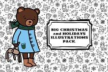 Big Christmas illustrations pack.