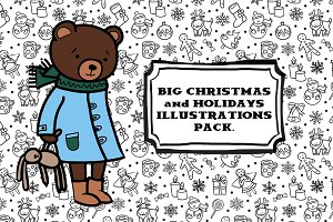 Big Christmas illustrations pack.