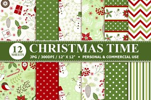 Christmas Time Digital Paper