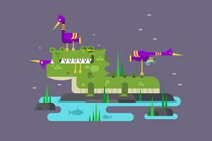 Crocodile character