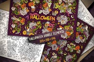 Halloween Doodles Designs