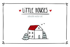 Little Houses ♥ Vector set