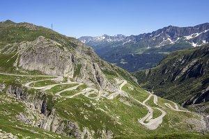 Alps mountain road
