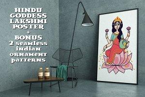 Hindu Goddess Lakshmi.