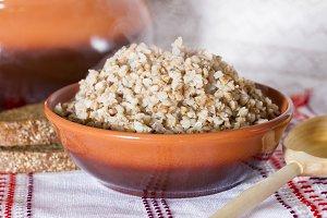Boiled buckwheat porridge