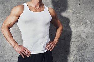 Close up fitness portrait of man