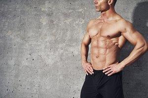 Fitness portrait abdominal muscles