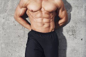 Fitness abdominal muscles six pack