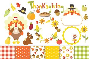 Thanksgiving Clipart Set