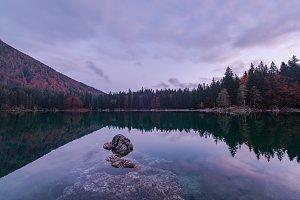 Beautiful scene at lago di Fusine