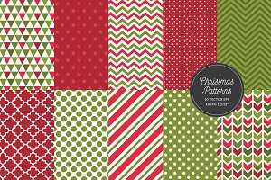 Christmas Pattern Geometric Seamless