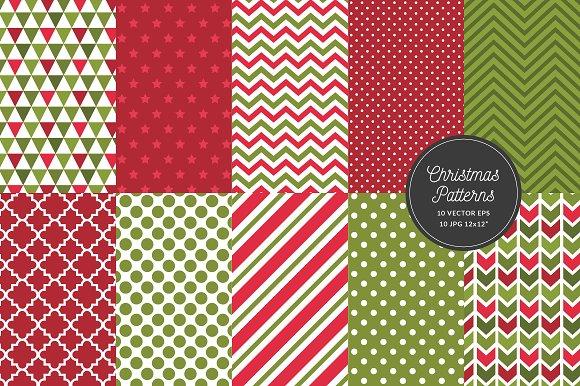 Christmas Pattern Geometric Seamless Graphic Patterns Creative Adorable Christmas Patterns