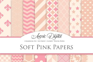 Soft Pink Digital Papers