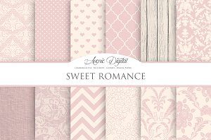 Sweet Romance Digital Paper