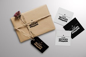 Box And Square Business card Mockup