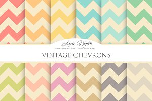 Vintage Chevron Digital Paper