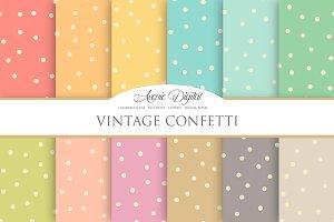 Vintage Confetti Digital Paper