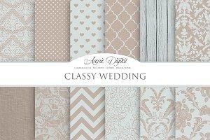 Classy Wedding Digital Paper