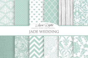 Jade Wedding Digital Paper