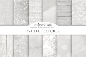 White Textures Digital Papers