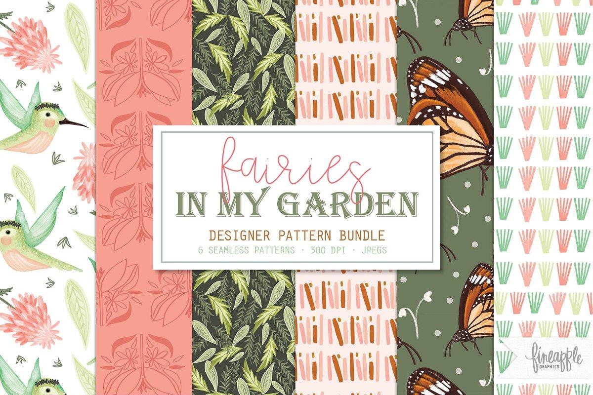 Fairy in the Garden Digital Paper