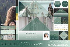 Succulent Forrest Website/Blog Kit