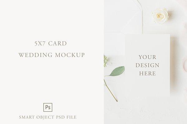 Wedding Card Mockup