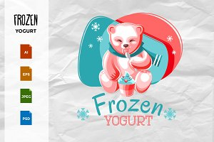 Bear Eating Frozen Yogurt