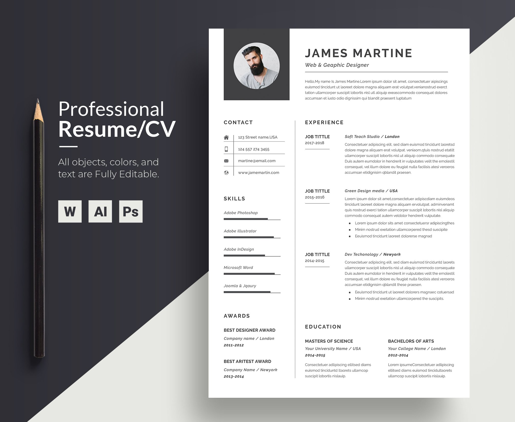 Resume Template Word | CV
