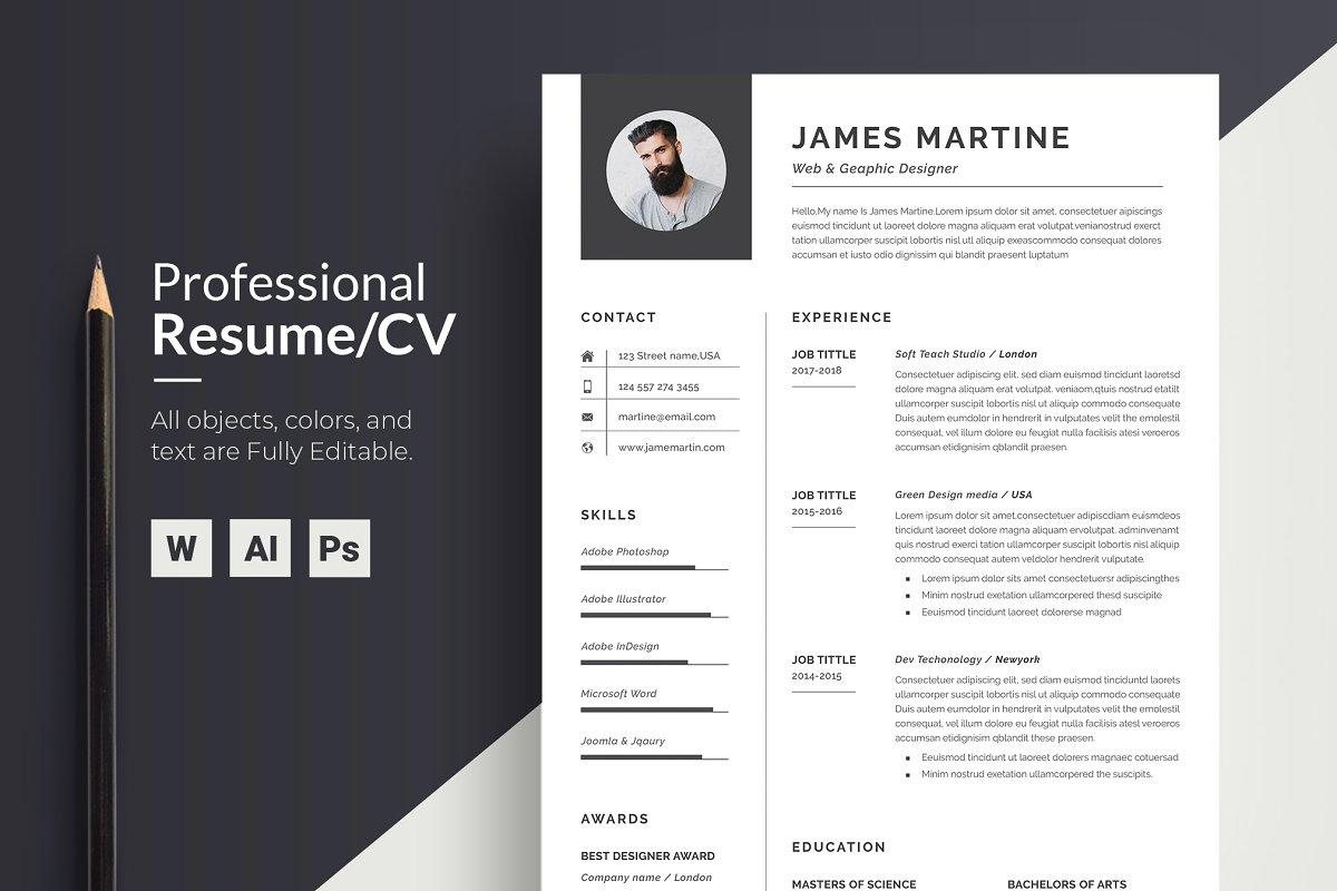 Resume Template Word | CV
