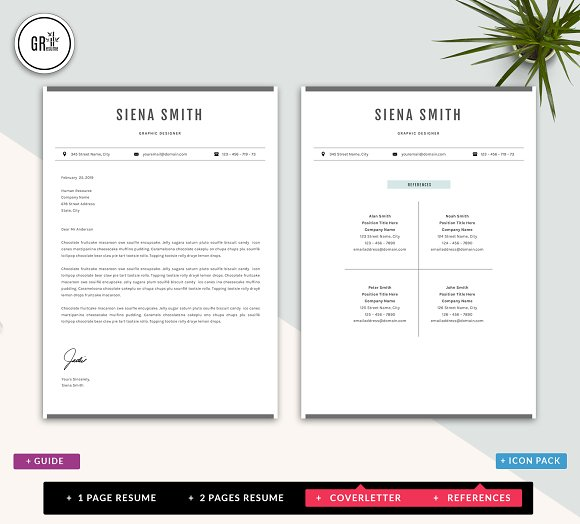 Resume Template Cv Template Word