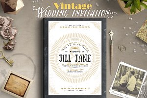 Vintage Wedding Invitation II