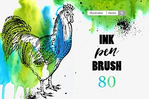 Ink pen Brush for illustrator