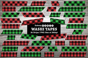 Christmas Plaid Washi Tapes
