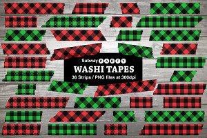Christmas Plaid Washi Tapes